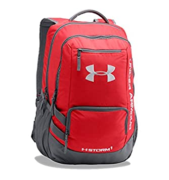 Charmant Under Armour Hustle II Storm Laptop Backpack (One Size, Red)