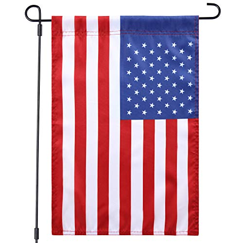 (Jetlifee USA US Garden Flag - United States Decorative Garden Flags by US Veterans Owned Biz. Quality Polyester American Flag Outdoor - 18 x 12.5 Inch)