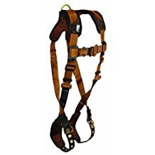 FallTech 7080SM ComforTech Full Body Harness with 1 D-Ring and Tongue Buckle Leg Straps Small/Medium