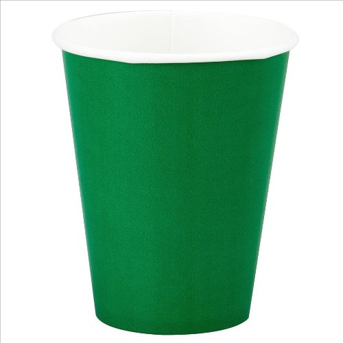 12oz Green Paper Cups, 10ct