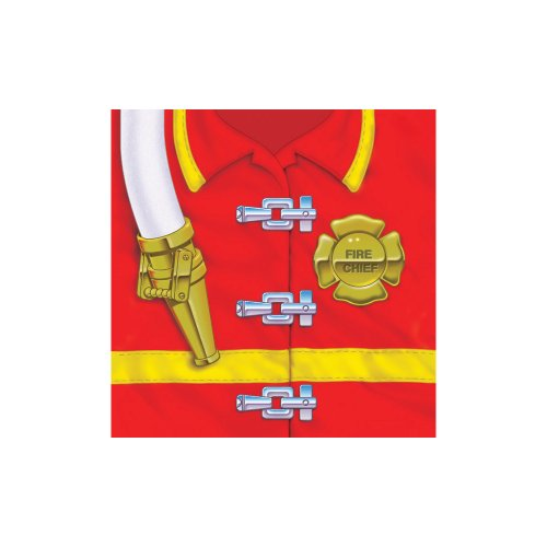 (Creative Converting Firefighter 16 Count 3-Ply Paper Beverage Napkins)