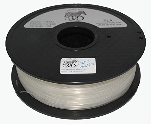 COLORME3D Quality 3D Printer Filament Space Blue Glow in The Dark PLA-1KG (2.2 lbs) Made in The USA 1.75 mm +/- 0.05 mm Accuracy-Space Blue Glow in The Dark PLA by Color Me 3D
