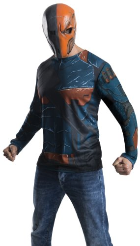 Rubie's Men's Batman Arkham City Adult Deathstroke Top, Multicolor, Small -