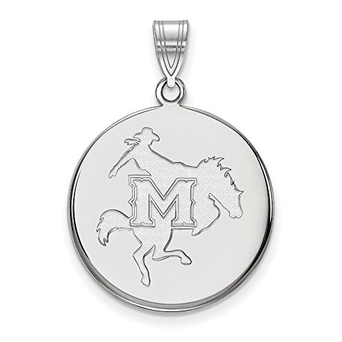 Mcneese State University Basketball (925 Sterling Silver Officially Licensed McNeese State University College Large Disc Pendant)