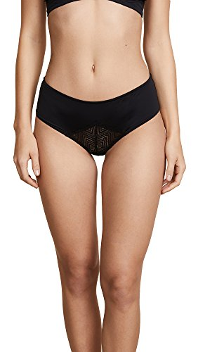 Pants Naughty (Cosabella Women's Bisou Naughty Open Back Hot Pants, Black, M/L)