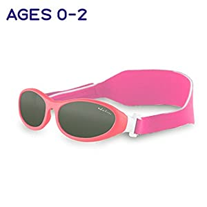 Baby Wrapz Baby Sunglasses For Toddlers Age 0-2 Years - 100% UV Sun Protection - With Soft Adjustable Headband Strap for No Fuss Comfort
