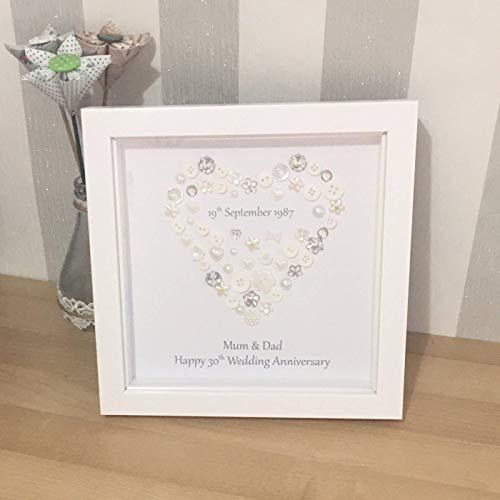 personalised 25th Wedding Anniversary gift handmade heart