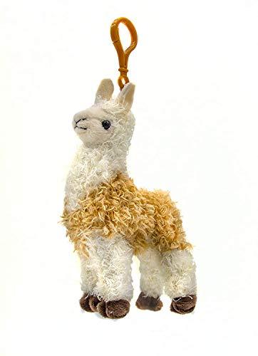 B-THERE Llama Stuffed Animal Plush Keychain ()