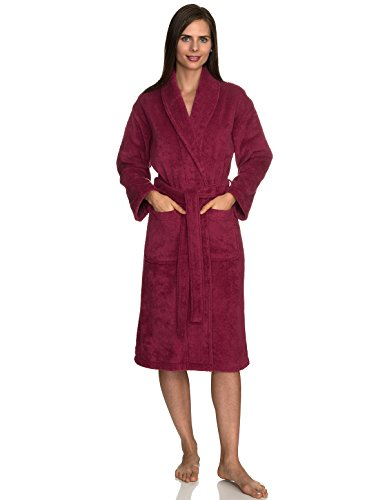 (TowelSelections Women's Robe, Turkish Cotton Terry Shawl Bathrobe X-Small/Small Anemone)