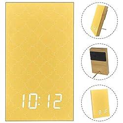 LLNSUPPLY LED Digital Alarm Clock for Kids Bedrooms Quatrefoil Lattice Pattern Small Clock with Simple Operation 5 Alarm Settings