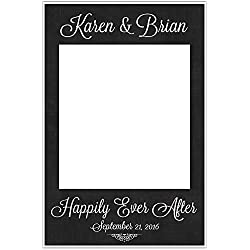 Selfie Frame Social Media Photo Frame DIY Wedding Booth Prop Customized Chalkboard Poster