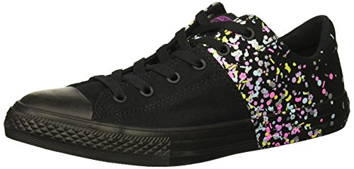 (Converse Girls' Chuck Taylor All Star Madison Low Top Sneaker, icon Violet/Black, 5.5 M US Big Kid)
