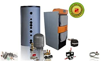 Super Holzvergaser Kombikessel Holz & Öl - Inkl. Ölbrenner Sigma Dual 30 #AR_07