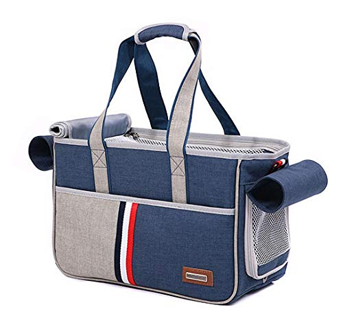 Pet Carrier for Dog and Cat,Soft Sided Collapsible Travel Bags for Small or Medium Animal,Durable up to 11-18 pound