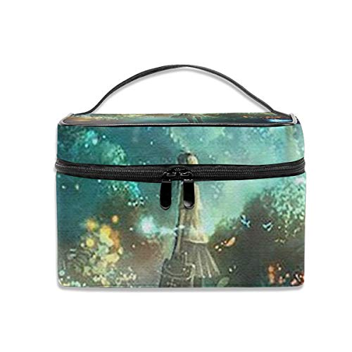 Fireflies And Girls Multifunctional Travel Makeup Bags With Handle,quality Zipper With Mesh Pocket
