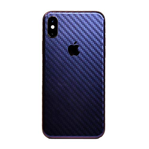 iPhone Xs MAX XR Skin Wrap,Tectom Carbon Fiber Skintz Color Changing Back Sticker Decal