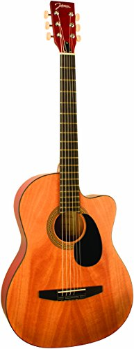 Johnson Guitars JG-100-CNA Johnson Student Acoustic Guitar, Natural with Cutaway by Johnson Guitars