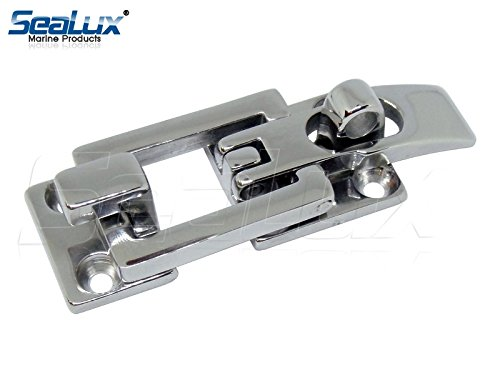 SeaLux Flat Surface Mounting Door Locker Hatch Anti-Rattle Hold Down Clamp Latch/Fastener Clamp Catch for Marine Boat/RV/Truck/Camper 316 Stainless Steel