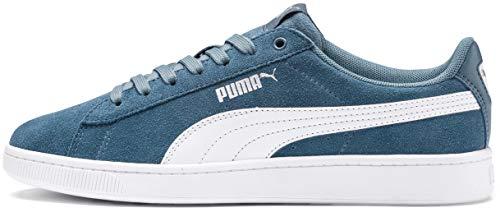 PUMA Women's Vikky Sneaker, Bluestone White Silver, 10 M US -