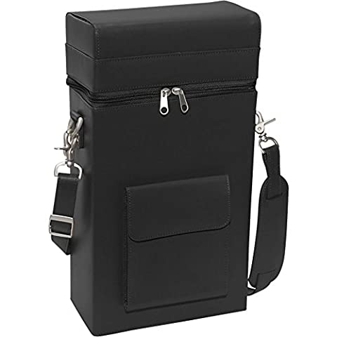 RYC620BLACK8 - Royce Leather Connoisseur Wine Carrier (Carriers 2009)