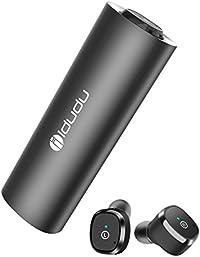 Bluetooth イヤホン iDudu 完全ワイヤレス イヤホン Bluetooth 5.0 IPX5 防水・防汗・防滴 片耳・両耳とも対応 マイク内蔵 Siri対応 充電式収納ケース付