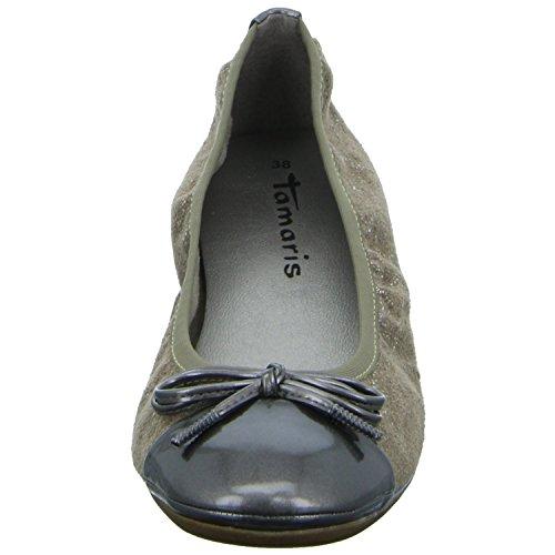 Women's 22103 Braun 1 Flats Platinum Ballet 1 960 28 Tamaris fdq4xBtwf