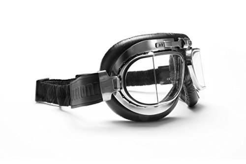 Vintage Motorcycle Goggles Antifog Squared Lenses