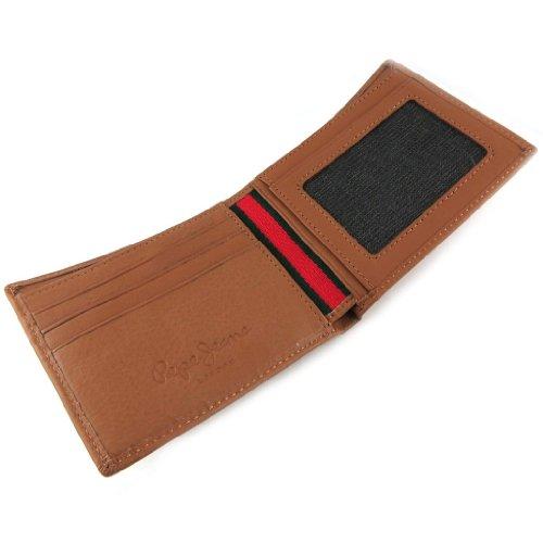 Italian leather wallet 'Pepe Jeans' cognac.