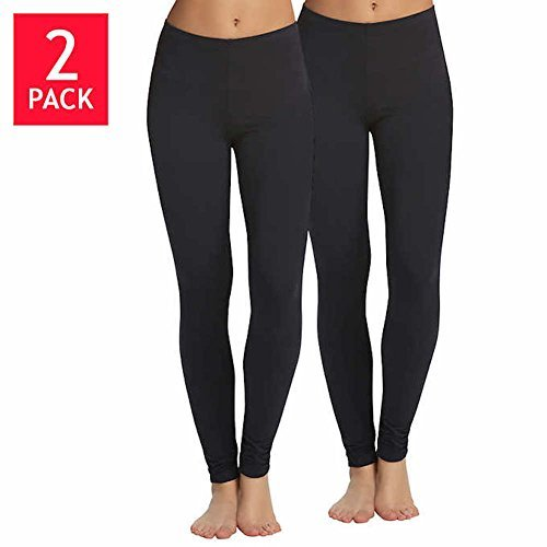 Legging Velvety Super Soft LightWeight By Felina Black 2 Pack New Arrival (X-Large, Black)