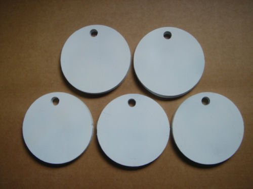 Set of Five Round Hangers 3/8 Inch Thick AR500 Steel NRA Action Pistol Plate (FREE SHIPPING!) (5 Inch)