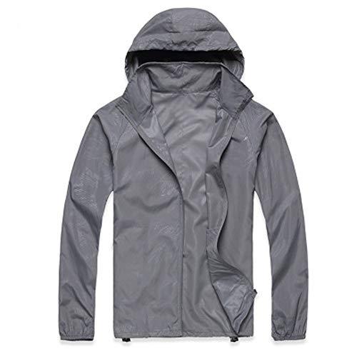 Tundra Insulated Jacket (vermers Men Women Lightweight Jackets Outerwear Casual Waterproof Windbreaker Jacket Running Hooded Coat(XL, Gray))