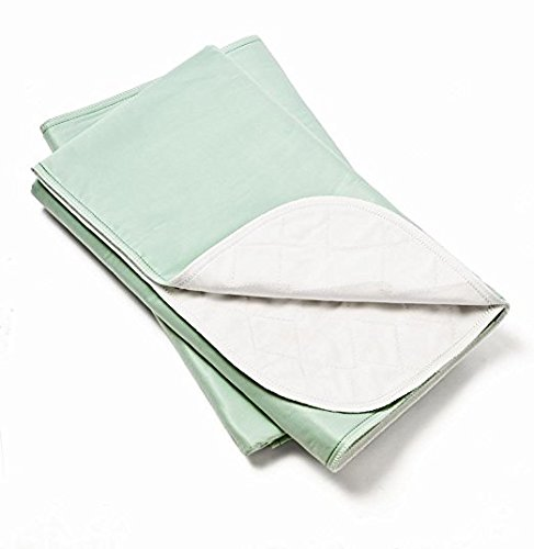 (Platinum Care Pads Washable Green Large Standard Reusable Bed Pads/Hospital Underpads, For use with Incontinence and pets size 34x36 in, Pack of 4)