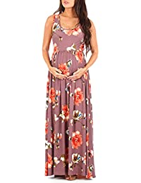 Women's Ruched Sleeveless Maternity Dress in Regular and...