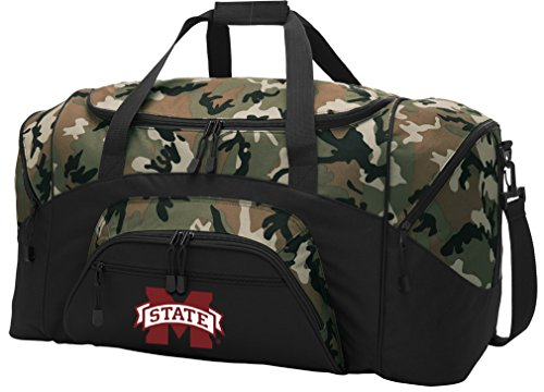Mississippi Bulldogs Bag State Gym (MSU Bulldogs Duffel Bag CAMO Mississippi State University Gym Bags Luggage)