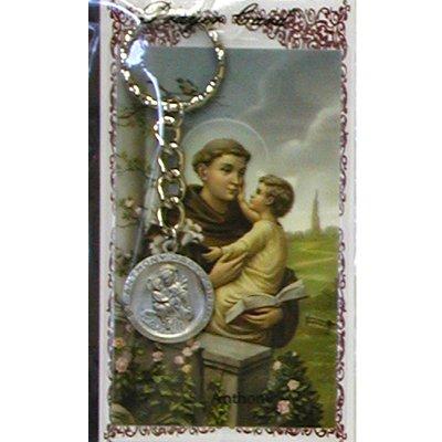 (St Anthony Key Ring / Prayer Card (KRD575ANC))