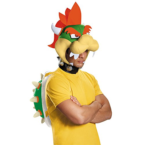 Bowser Costume Accessories (Disguise Men's Bowser Costume Kit - Adult, Multi, One Size)