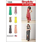 Simplicity 1358 Easy to Sew Women's Knit Dress