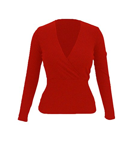 yeeatz-red-sexy-crop-plunging-cross-v-neck-stretch-knitwear-topsizes