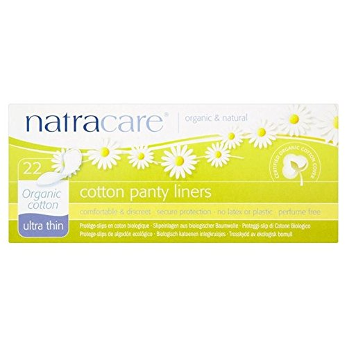 Natracare Organic Ultra Thin Cotton Pantyliners 22 per pack (PACK OF 6)