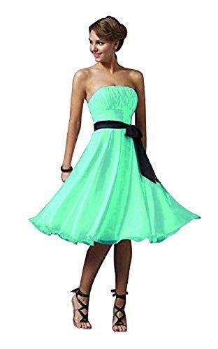 ROBLORA-Vestido de noche de Cóctel formal del vestido de boda de dama de honor corto 1290ES Robe vert d'eau