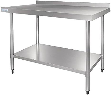 Vogue - Mesa de acero inoxidable con soporte para cocinas de ...