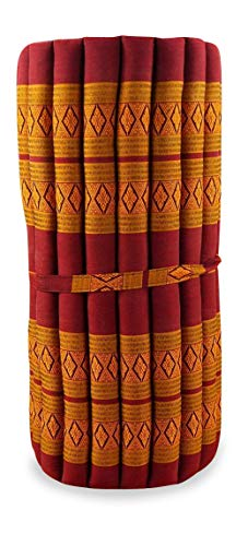 livasia Thai Mat, 79x30x2 inches (LxWxH),Roll Mattress, 100% Kapok Filling for Yoga, Massage, Fitness and Relaxation