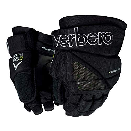 VERBERO Dextra Pro III Senior Gloves (14 Inch, Black)