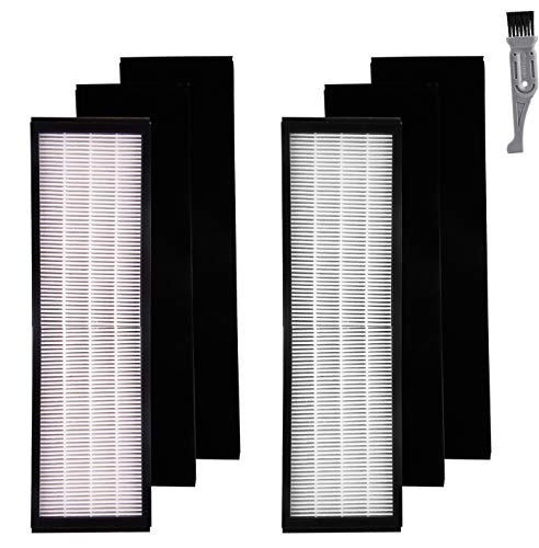 I clean 2 Packs Filter B for GermGuardian FLT4825, True HEPA Filter Replacement Fit for AC4825 AC4300 AC4800 4900 Series Air Purifiers with A Free Cleaning Brush