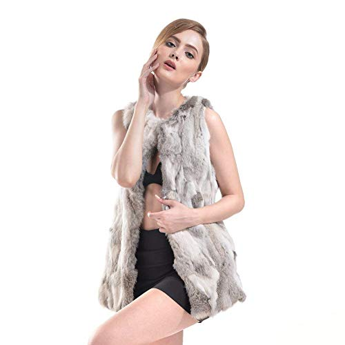 Femme Gilet Automne Hiver paisseur Warm Gilet De Fourrure Fashion Vtements Casual Doux Blouson Vest lgant Sleeveless Patte De Boutonnage Fourrure Synthtique Gilet Fourrure Outerwear Grande Taille Grau