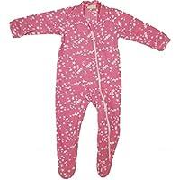 Pijama em Fleece com Pé Estrelas Rosa-1 ano