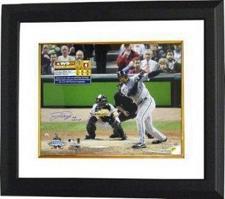 Jermaine Dye Framed (Jermaine Dye Signed Autograph Chicago White Sox 16x20 Photo 05 WS MVP Custom Framed - Authentic MLB Photos)