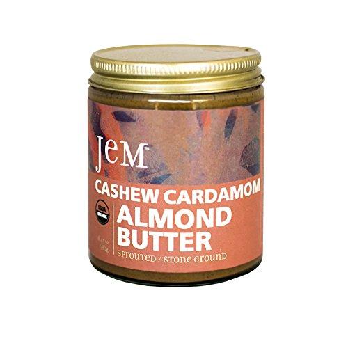 Almond Cashew Butter (JEM - USDA Certified Organic Cashew Cardamom Almond Butter Spread, Vegan, NON-GMO, 6 oz)