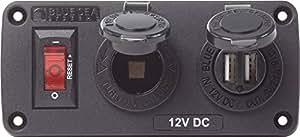 Below Deck Charging Panel - 2.1A Dual USB Charger & 12V Socket