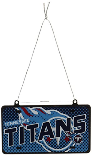 NFL Tennessee Titans Metal License plate Ornament
